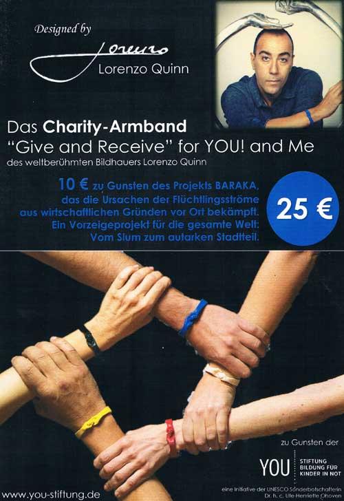 Lorenzo Quinn Charity